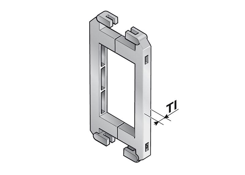 Cadru consolidare lanturi portcablu. Creste rezistenta mecanica, separa cabluri interior lant portcablu. Costuri reduse. Disponibil si pentru lanturi metalice