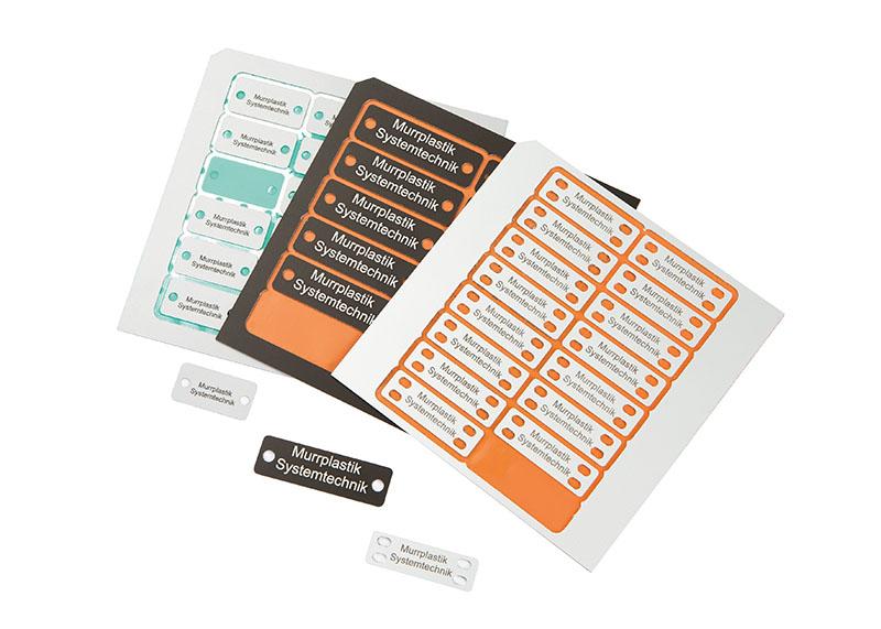 Etichetare aluminiu. Etichete aluminiu in variante patrate, rotunde, cu raza de colt, optional cu gauri, orificii sau granulatie