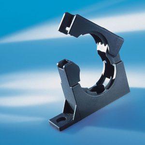 Inchidere sigura a suportului - fara scule. Click si gata. Copex si tuburi flexibile Murrplastik