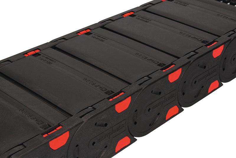 Lant energetic inchis acoperit. Calitate superioara pentru zone prafuite, murdarie, sudura, pilitura. Protectie cabluri energetice, tuburi si furtunuri pneumatice si hidraulice