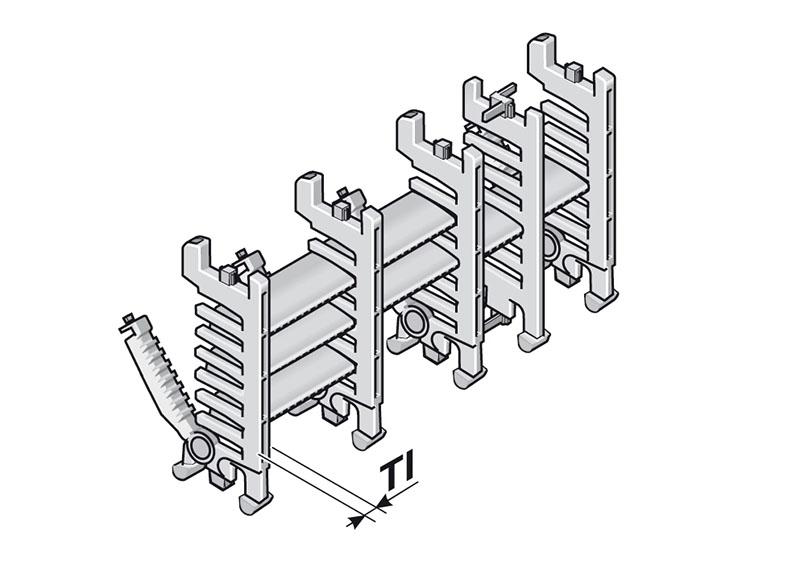 Rafturi si separatoare cu asamblare rapida direct la punctul de lucru. Utilizate in lanturi energetice portcablu