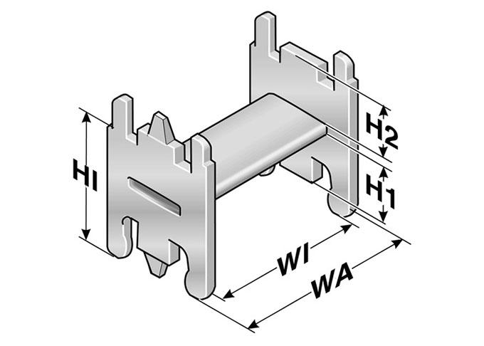 Suporti tip H utilizati in interiorul lanturilor portcablu Murrplastik realizarea directa a unei structuri geometrice de separare a cablurilor pe vertical cat si orizontal