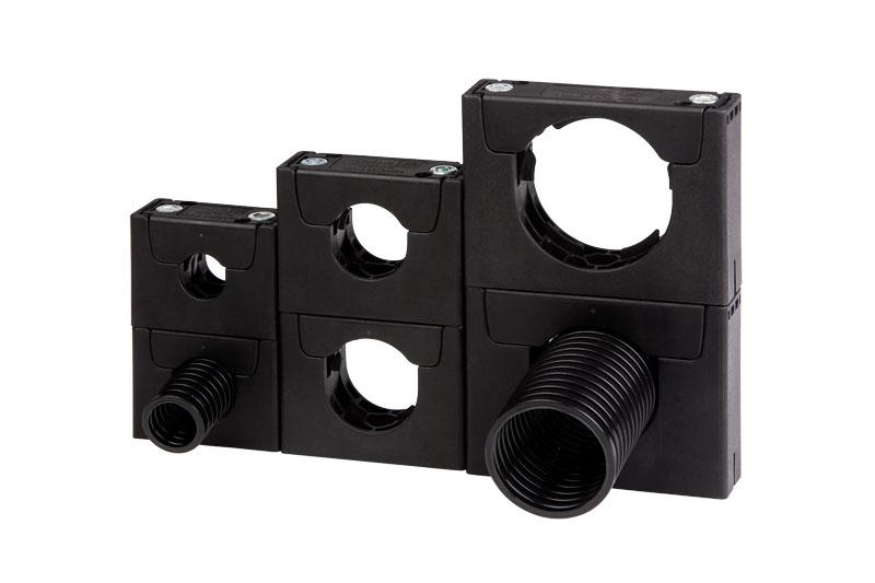 variante simple sau sisteme stivuire - supraetajat - tuburi flexibile de protectie a cablurilor