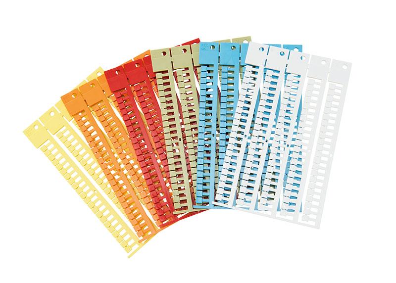 Etichete pentru toate tipurile de cleme. Culori divere