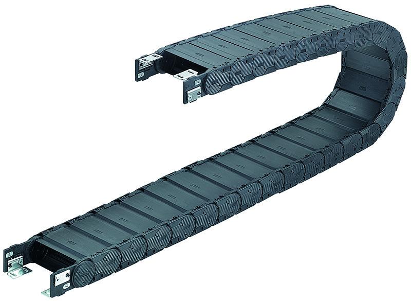 Lanturi portcablu energetice inchise acoperite. Incaperi sterile, temperaturi extreme, sudare, mizerie, utilizare exterior, protectie cabluri si furtunuri