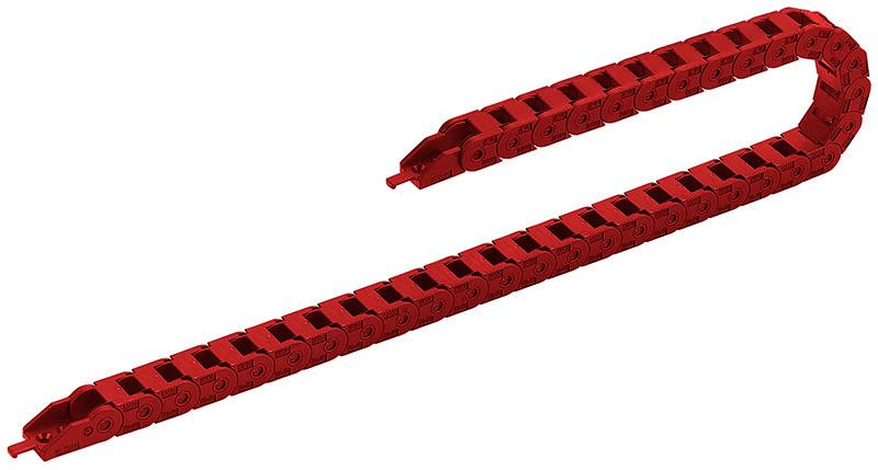 Lanturi portcablu ignifuge, clasa de incendiu V-0 UL 94. Fabricat din poliamida PA culoarea rosie pentru identificarea materialelor sigur