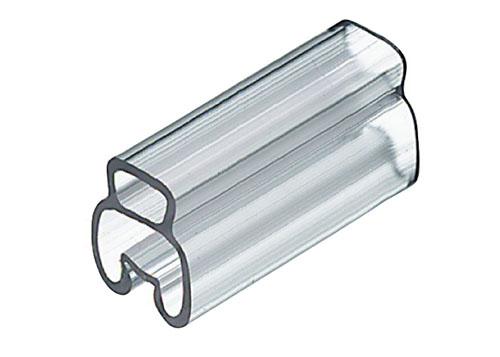 Portetichete transparente pentru etichetarea firelor si cablurilor. Se instaleaza prin impingere pe cablu sau fir