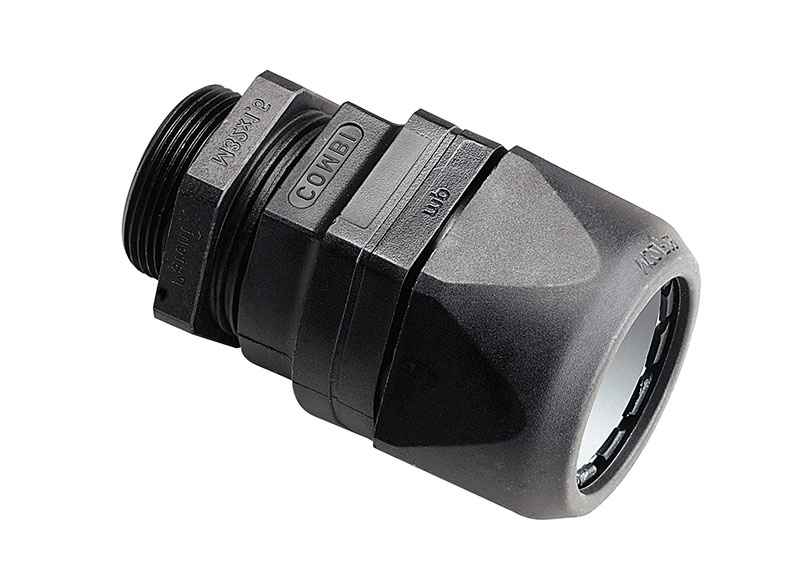 Presetupa fara halogen care prinde cablu si tub copex flexibil Ignifug cu auto stingere IP 68 pana la 6 bari asamblare rapida protectie rezistenta la vibratii