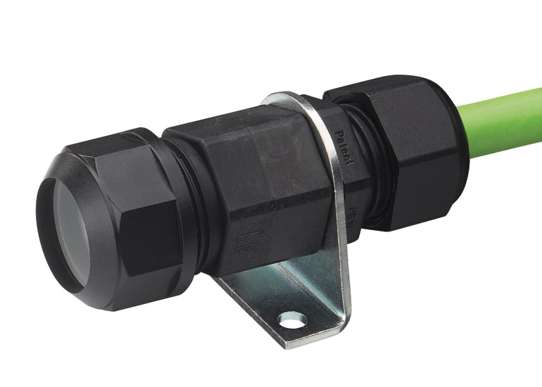 Racord, fitting, conectori V0 - UL 94 - ignifugi cu proprietati de autostingere. Varianta cu prindere a cablului