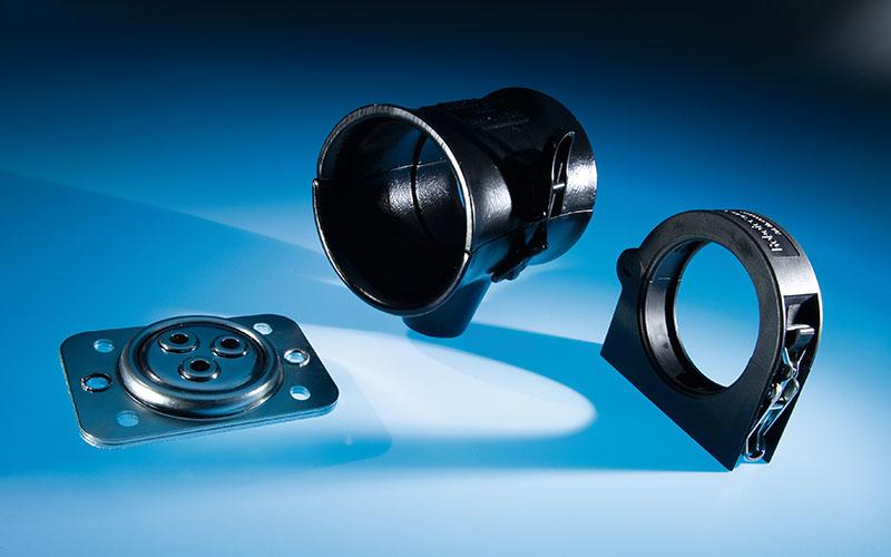 Set pentru pivotarea si glisare tuburilor flexibile. Permit miscari axiale. Pivotant 360 de grade