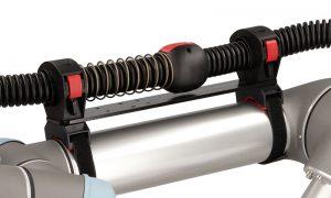 Sistem de retractie simplu si de economisirea spatiului. Prindere Velcro. poate fi montat direct pe robot. roboti industriali mici