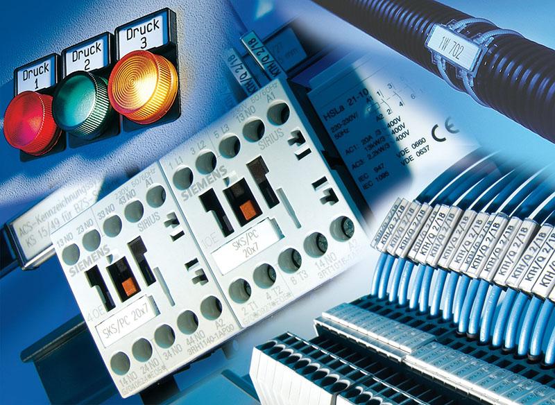 Sisteme de etichetare universale pentru fire simple, cabluri, tuburi, aparate electrice, butoane si semnalizari, echipamente si instalatii