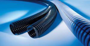 Tuburi flexibile de protectie cu fanta longitudinala care permite introducerea si scoaterea rapida a cablurilor lungi.