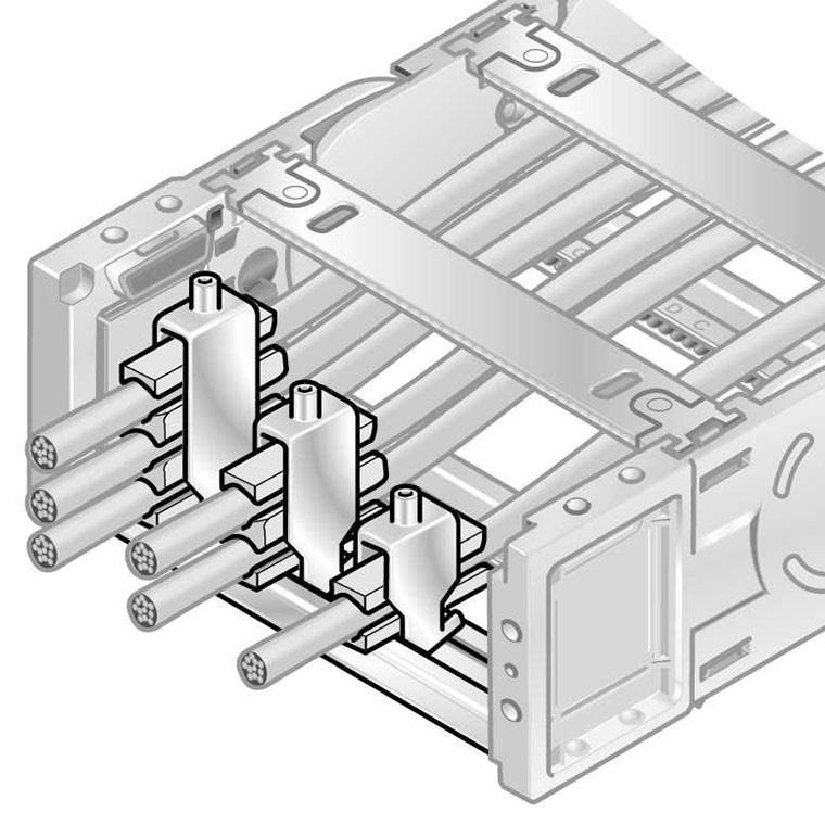 detensionarea mecanica a cablurilor, strain relief in lant portcablu energetic. Elibereaza tensiunea mecanica din cablu